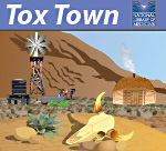 Tox Town portion of US Southwest scene with logo