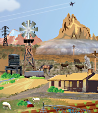 Tox Town portion of US Southwest scene