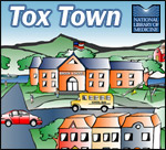 Tox Town portion of Town scene with logos - 150X136 pixels - 15 KB