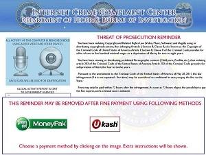 Reveton warning screen