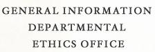 General Information Departmental Ethics Office
