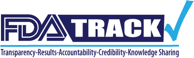 FDA-TRACK Logo. TRACK stands for Transparency, Results, Accountability, Credibility, Knowledge-sharing