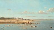 image: Paul Guigou, Washerwomen on the Banks of the Durance, 1866