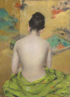 image: William Merritt Chase, Study of Flesh Color and Gold, 1888/1889
