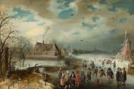 Image: Adam van Breen Skating on the Frozen Amstel River, 1611 The Lee and Juliet Folger Fund, in honor of Arthur K. Wheelock, Jr. 2010.20.1