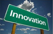 """Photo of a road sign that reads """"Innovation."""""""