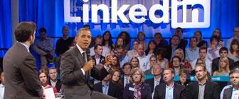 President Obama talking at LinkedIn.