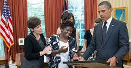 Olmstead champion Lois Curtis meets President Obama
