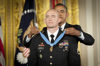 Medal of Honor presented to Staff Sgt. Ty Carter