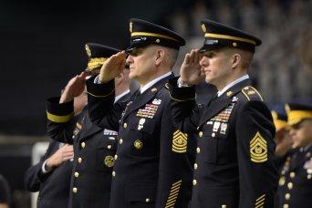 Sgt. Maj. of the Army Raymond F. Chandler III salu