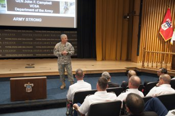 Vice Chief of Staff Gen. John Campbell meets with