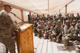 CSA visits Soldiers in southern Afghanistan