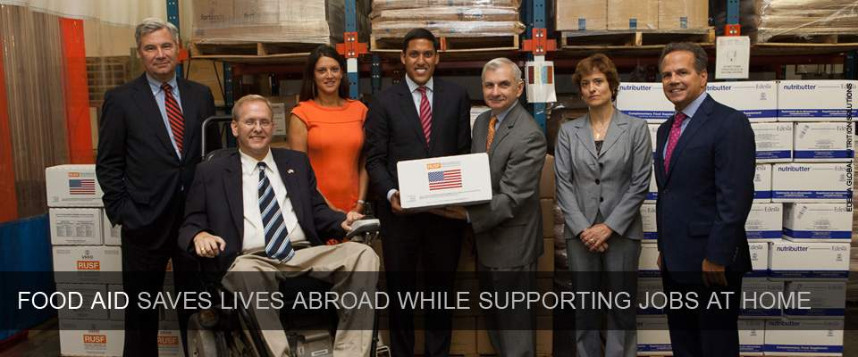 Food aid saves lives abroad while supporting jobs at home