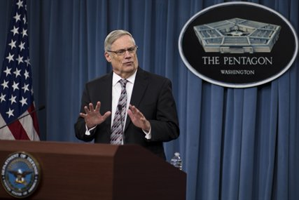 Robert F. Hale, the Defense Department's comptroller and chief financial officer, briefs the press about a potential government shutdown and its effects on the Defense Department at the Pentagon, Sept. 27, 2013.