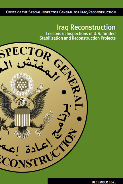 Lessons in Inspections of U.S.-funded