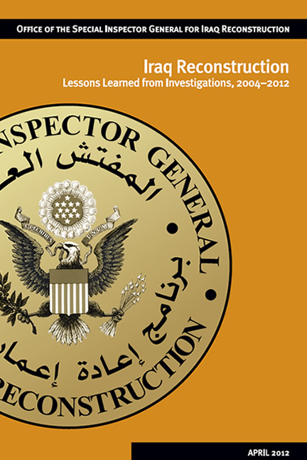 Cover for the Iraq Reconstruction